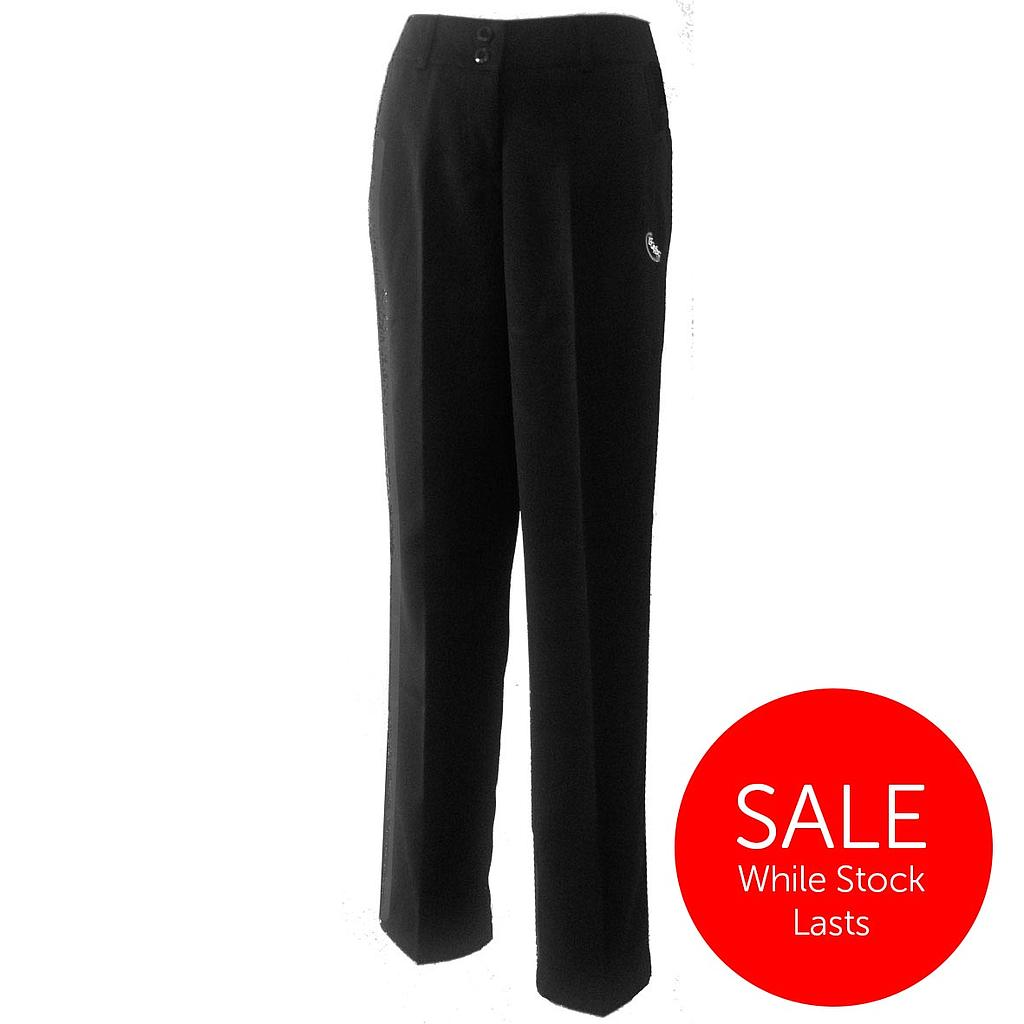 FGW Pants Girls Formal Gab Black 7-12
