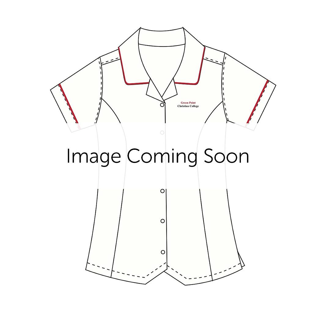 GPC Blouse S/S Red Trim 7-10