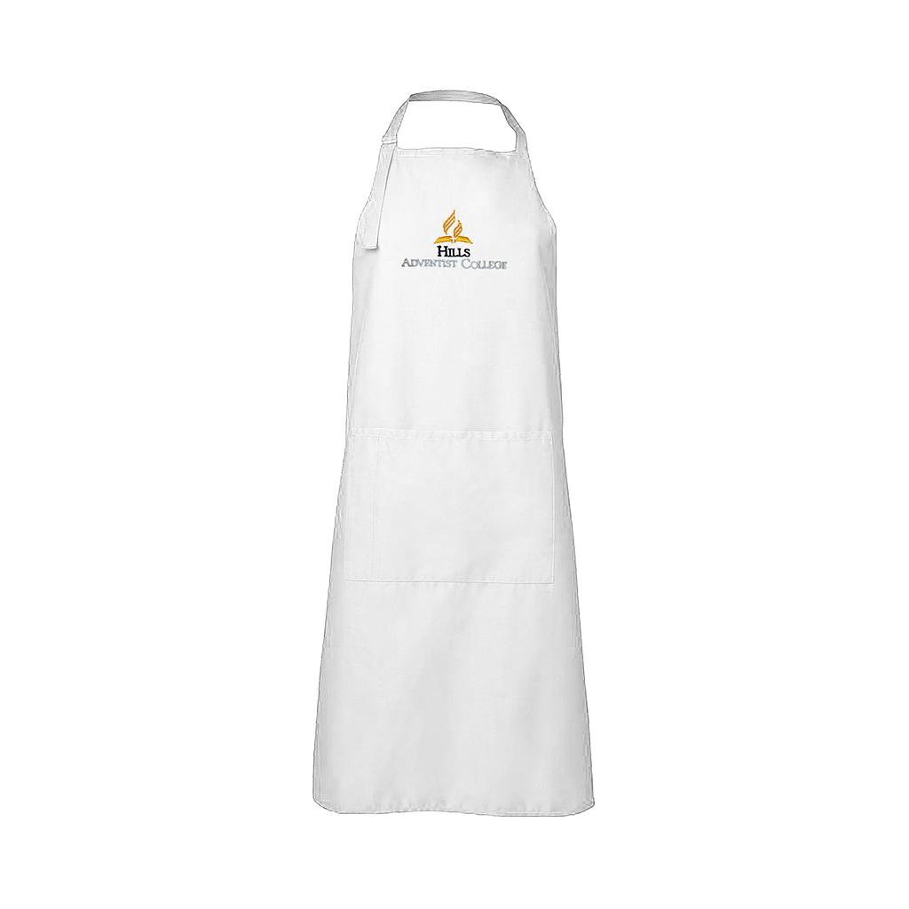 HAC Apron White Embroidered