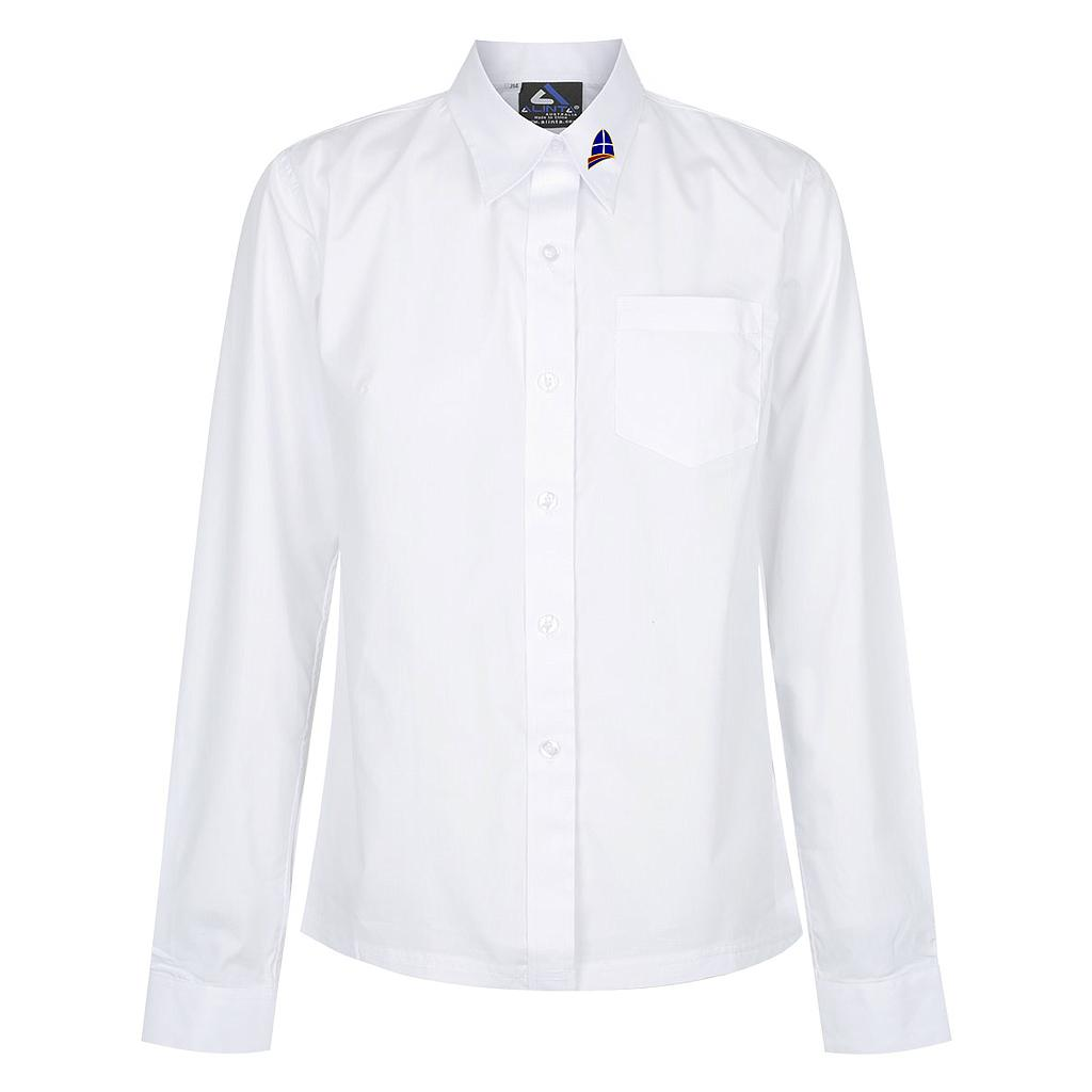 LGR Blouse L/S White Girls PC K-12