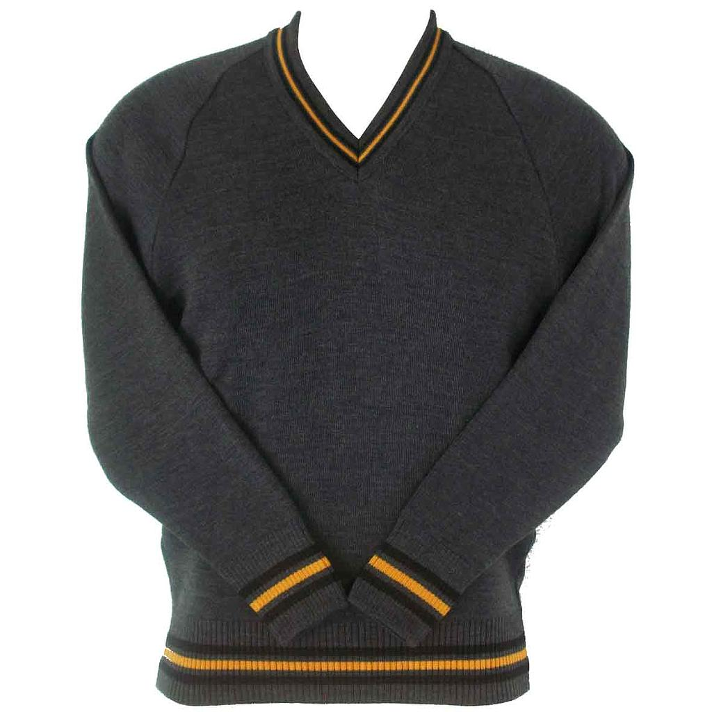 PPS Jumper Wool Grey w/Stripes K-6
