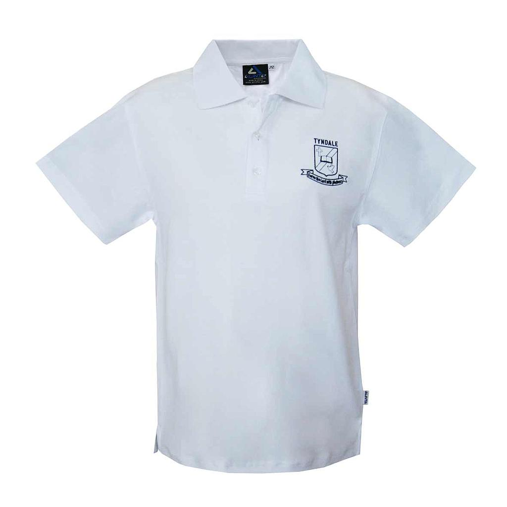 TCS SS Polo Girls White K-8