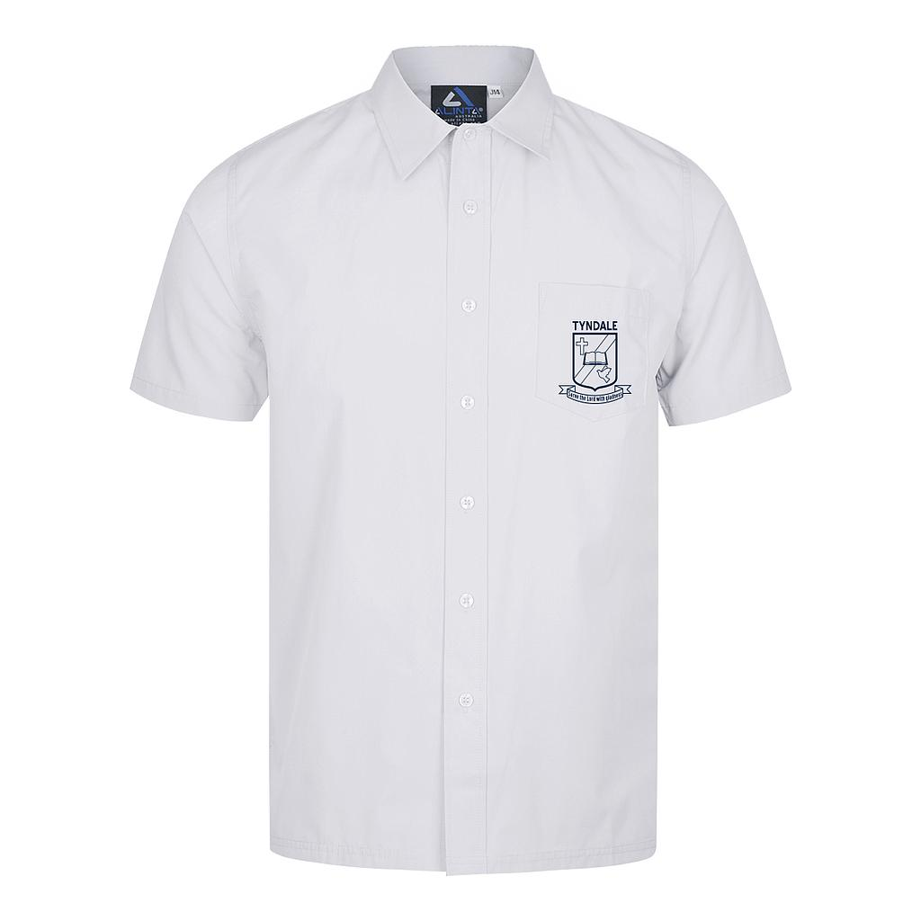 TCS Shirt S/S White Y11-12
