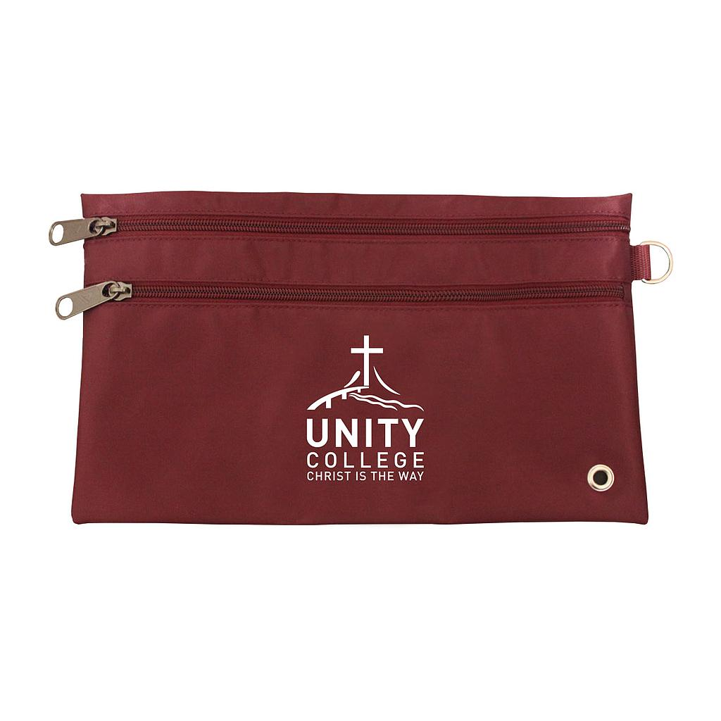 UNI Pencil Case Maroon