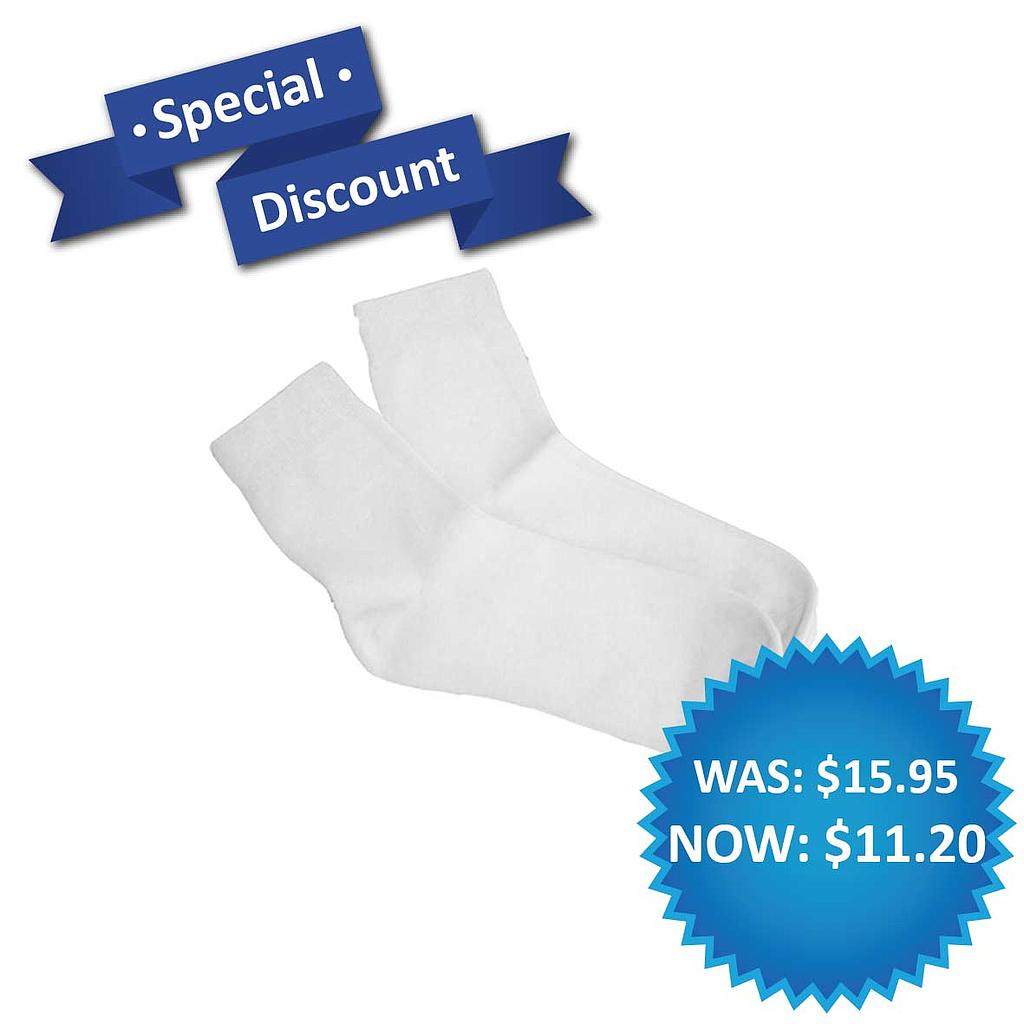 UNI Dress Sock White 3 Pack (O)