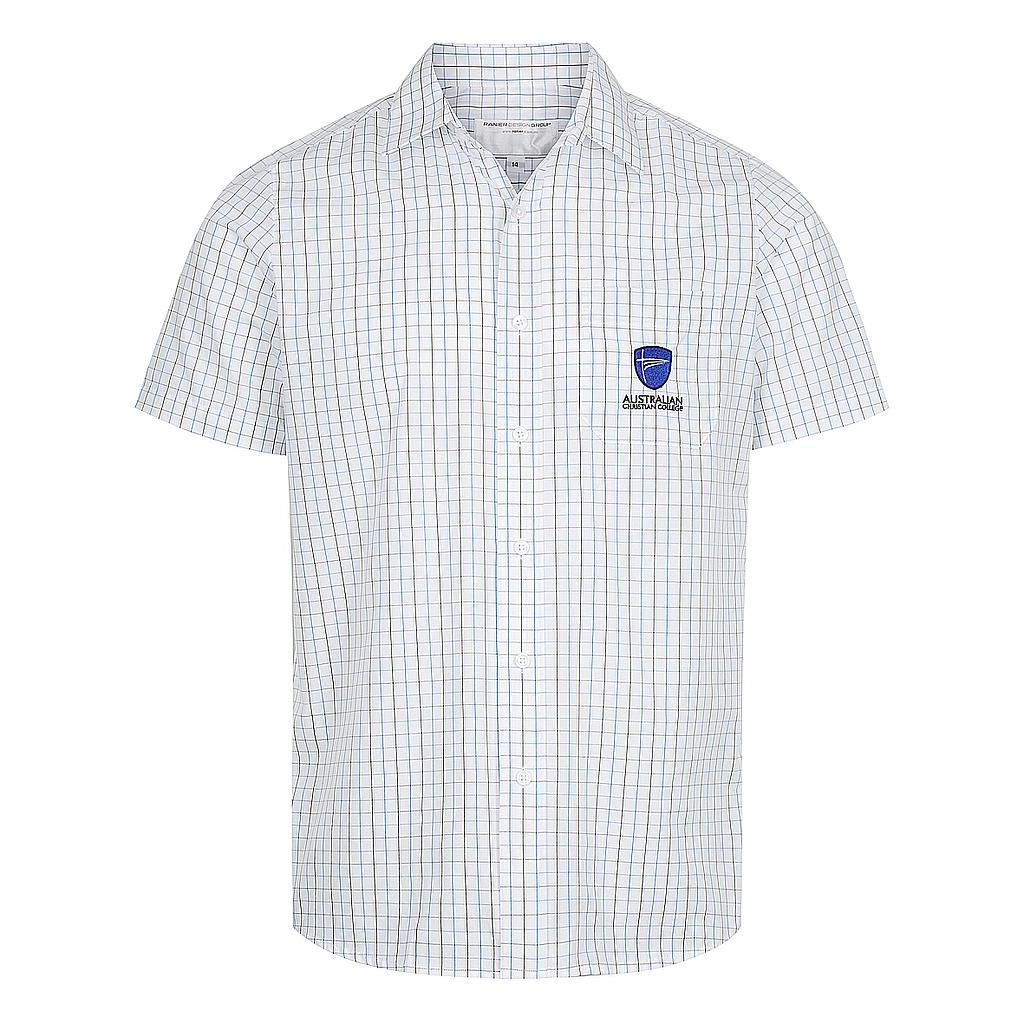 ACC Shirt SS Check White Boys P-6 (O)