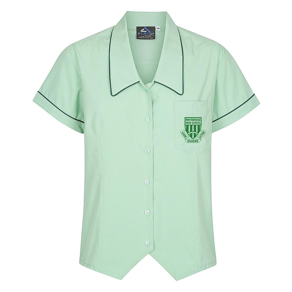 WBH Blouse S/S Green PC 7-10