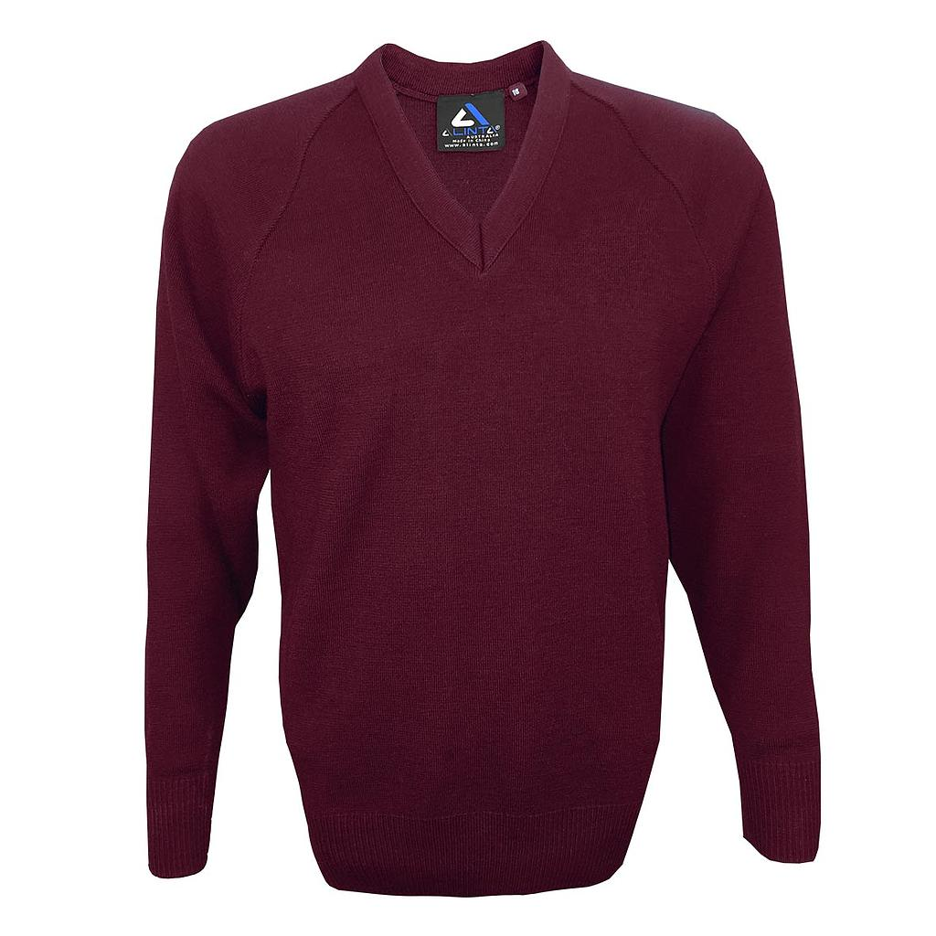 AWH Jumper Wool Maroon Calcoup