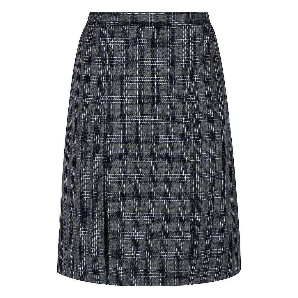 BCC Skirt Grey Check 7-12