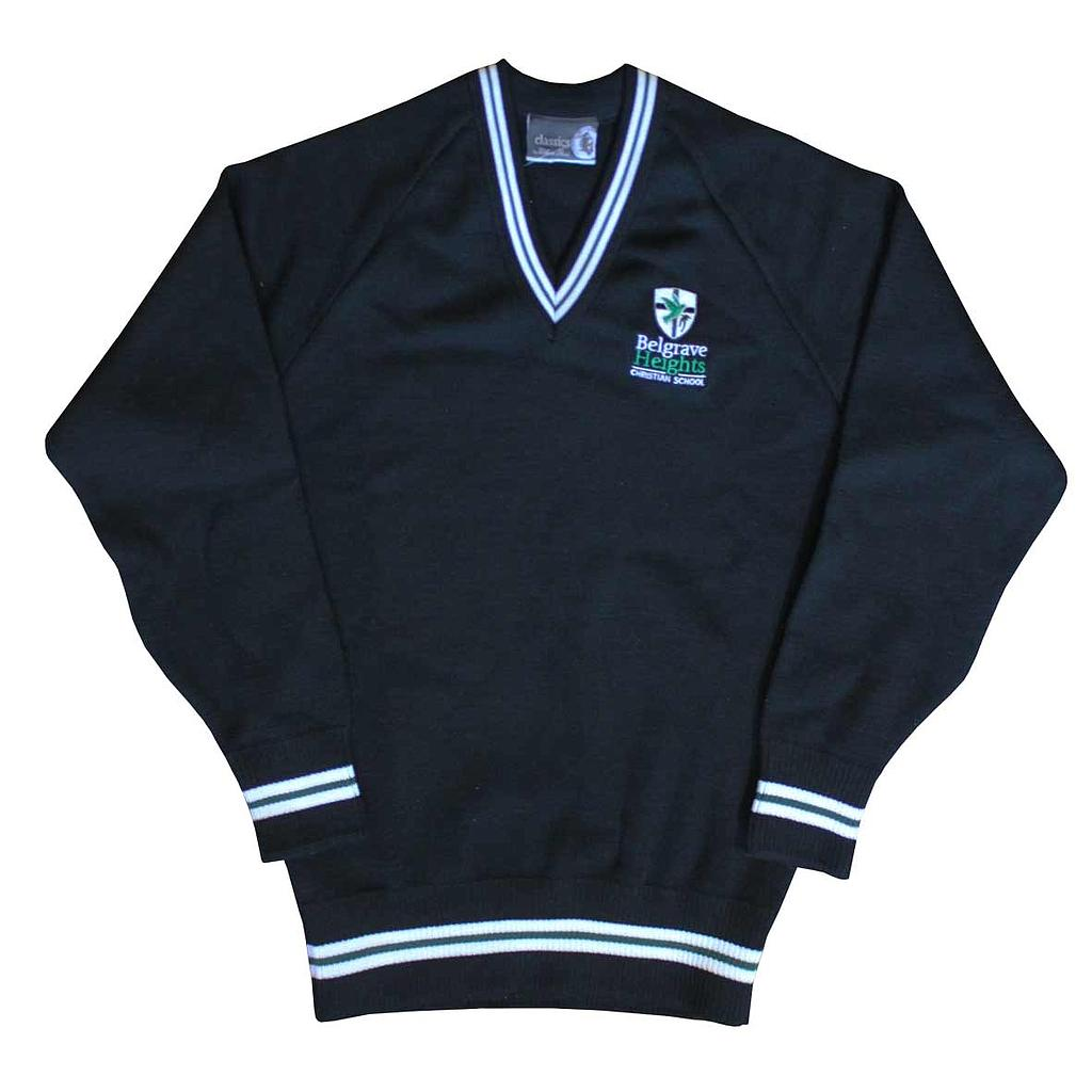 BHC Jumper W Black With Stripes P-12