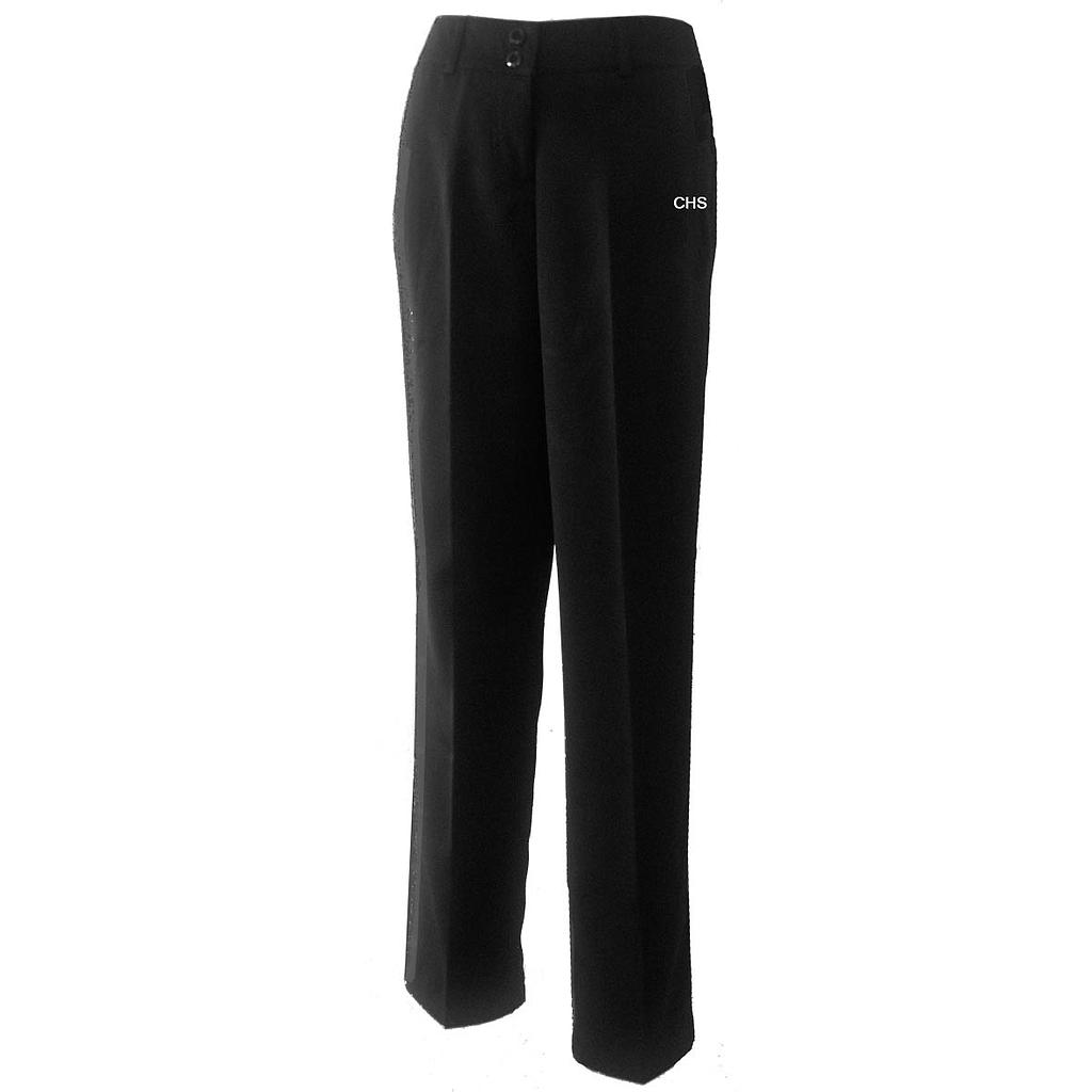 CHS Pants Girls Formal Gab Blk 7-12